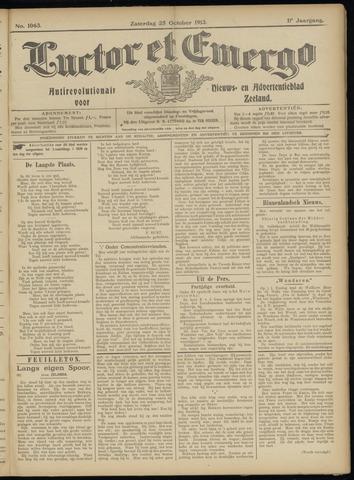 Luctor et Emergo. Antirevolutionair nieuws- en advertentieblad voor Zeeland / Zeeuwsch-Vlaanderen. Orgaan ter verspreiding van de christelijke beginselen in Zeeuwsch-Vlaanderen 1913-10-25