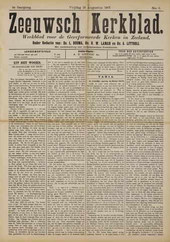 Zeeuwsche kerkbode, weekblad gewijd aan de belangen der gereformeerde kerken/ Zeeuwsch kerkblad 1907-08-16
