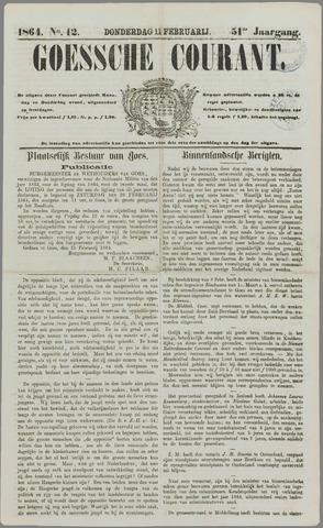 Goessche Courant 1864-02-11