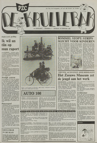 Provinciale Zeeuwse Courant katern Krullenbak (1981-1999) 1986-02-18