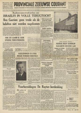 Provinciale Zeeuwse Courant 1957-03-07