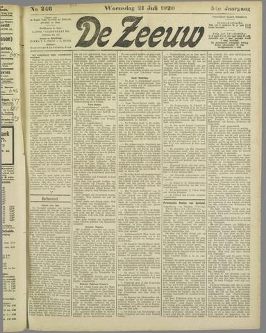 De Zeeuw. Christelijk-historisch nieuwsblad voor Zeeland 1920-07-21