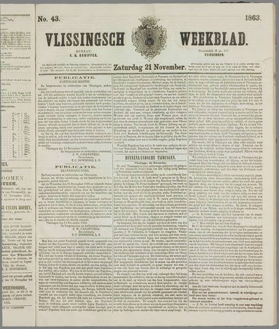 Vlissings Weekblad 1863-11-21