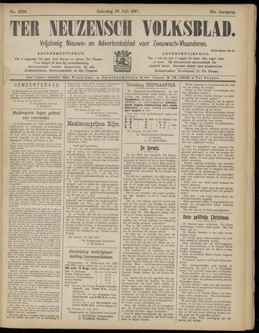 Ter Neuzensch Volksblad. Vrijzinnig nieuws- en advertentieblad voor Zeeuwsch- Vlaanderen / Zeeuwsch Nieuwsblad. Nieuws- en advertentieblad voor Zeeland 1917-07-28