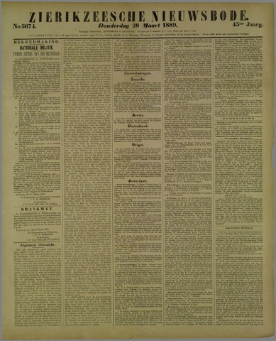 Zierikzeesche Nieuwsbode 1889-03-28