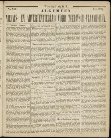 Ter Neuzensche Courant. Algemeen Nieuws- en Advertentieblad voor Zeeuwsch-Vlaanderen / Neuzensche Courant ... (idem) / (Algemeen) nieuws en advertentieblad voor Zeeuwsch-Vlaanderen 1873-07-02