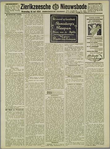 Zierikzeesche Nieuwsbode 1924-07-16