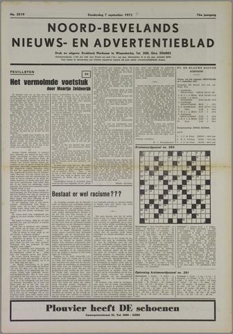 Noord-Bevelands Nieuws- en advertentieblad 1972-09-07