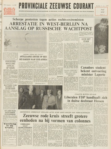 Provinciale Zeeuwse Courant 1970-11-09