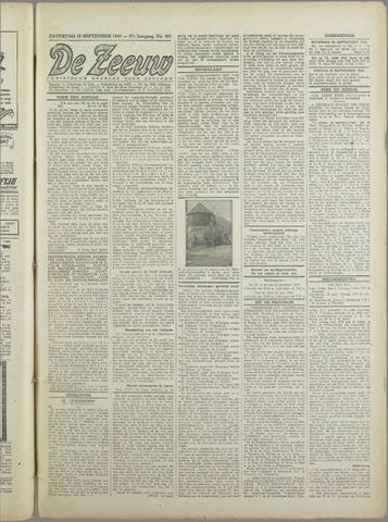 De Zeeuw. Christelijk-historisch nieuwsblad voor Zeeland 1943-09-25