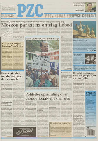 Provinciale Zeeuwse Courant 1996-10-18