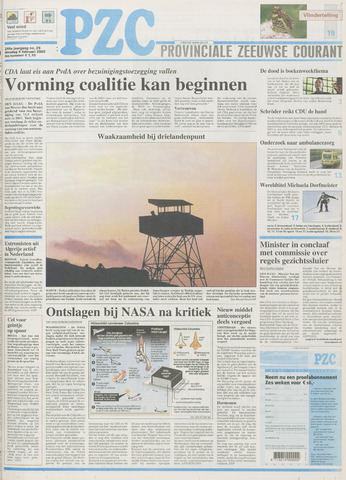 Provinciale Zeeuwse Courant 2003-02-04