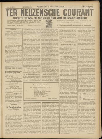 Ter Neuzensche Courant. Algemeen Nieuws- en Advertentieblad voor Zeeuwsch-Vlaanderen / Neuzensche Courant ... (idem) / (Algemeen) nieuws en advertentieblad voor Zeeuwsch-Vlaanderen 1936-11-11