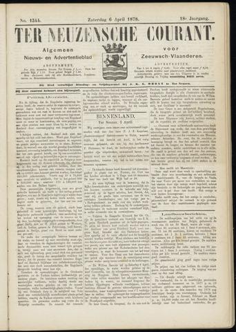 Ter Neuzensche Courant. Algemeen Nieuws- en Advertentieblad voor Zeeuwsch-Vlaanderen / Neuzensche Courant ... (idem) / (Algemeen) nieuws en advertentieblad voor Zeeuwsch-Vlaanderen 1878-04-06