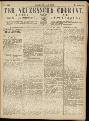 Ter Neuzensche Courant. Algemeen Nieuws- en Advertentieblad voor Zeeuwsch-Vlaanderen / Neuzensche Courant ... (idem) / (Algemeen) nieuws en advertentieblad voor Zeeuwsch-Vlaanderen 1901-04-20