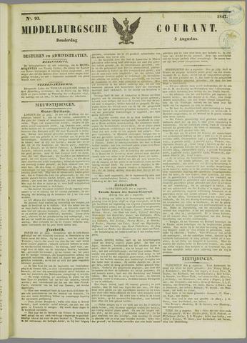 Middelburgsche Courant 1847-08-05
