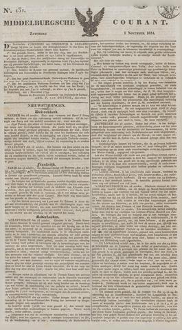 Middelburgsche Courant 1834-11-01