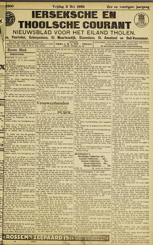 Ierseksche en Thoolsche Courant 1929-05-03