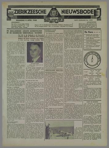 Zierikzeesche Nieuwsbode 1940-04-08