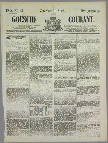 Goessche Courant 1885-04-11
