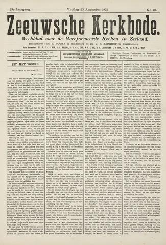 Zeeuwsche kerkbode, weekblad gewijd aan de belangen der gereformeerde kerken/ Zeeuwsch kerkblad 1915-08-20