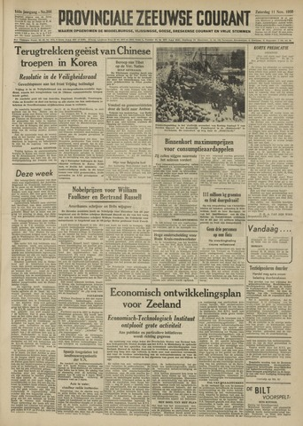 Provinciale Zeeuwse Courant 1950-11-11