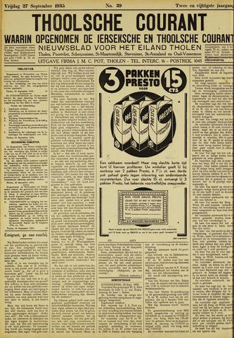 Ierseksche en Thoolsche Courant 1935-09-27