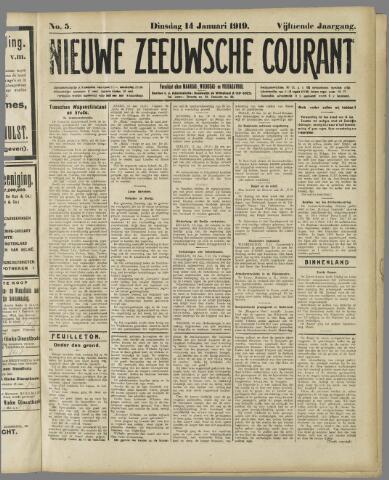 Nieuwe Zeeuwsche Courant 1919-01-14