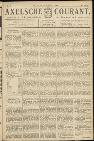 Axelsche Courant 1934-04-24