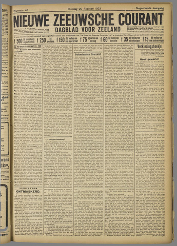 Nieuwe Zeeuwsche Courant 1923-02-20