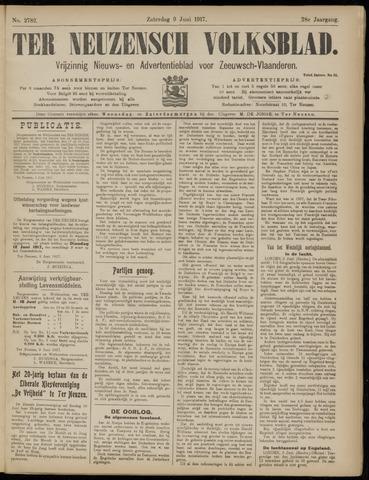 Ter Neuzensch Volksblad. Vrijzinnig nieuws- en advertentieblad voor Zeeuwsch- Vlaanderen / Zeeuwsch Nieuwsblad. Nieuws- en advertentieblad voor Zeeland 1917-06-09