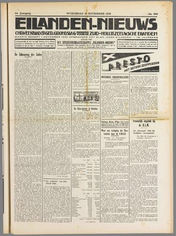 Eilanden-nieuws. Christelijk streekblad op gereformeerde grondslag 1938-11-16