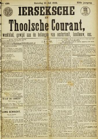 Ierseksche en Thoolsche Courant 1893-07-15