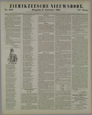 Zierikzeesche Nieuwsbode 1885-09-15