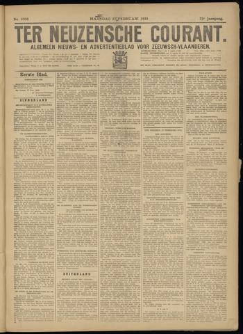 Ter Neuzensche Courant. Algemeen Nieuws- en Advertentieblad voor Zeeuwsch-Vlaanderen / Neuzensche Courant ... (idem) / (Algemeen) nieuws en advertentieblad voor Zeeuwsch-Vlaanderen 1933-02-27