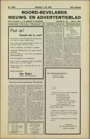 Noord-Bevelands Nieuws- en advertentieblad 1952-07-05