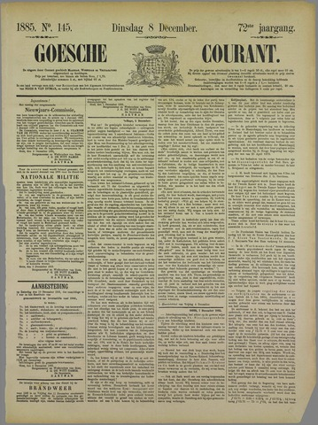 Goessche Courant 1885-12-08