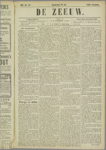 De Zeeuw. Christelijk-historisch nieuwsblad voor Zeeland 1891-07-30