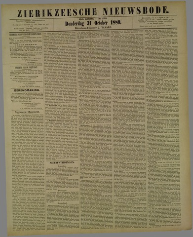 Zierikzeesche Nieuwsbode 1889-10-31