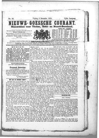 Nieuwe Goessche Courant 1870-12-02