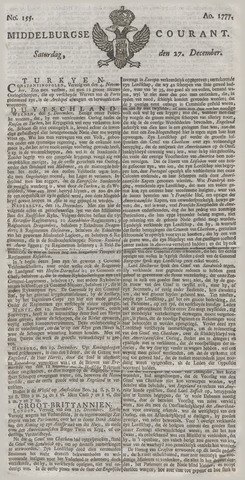 Middelburgsche Courant 1777-12-27