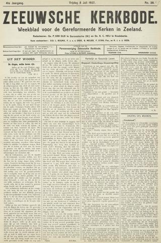 Zeeuwsche kerkbode, weekblad gewijd aan de belangen der gereformeerde kerken/ Zeeuwsch kerkblad 1927-07-08