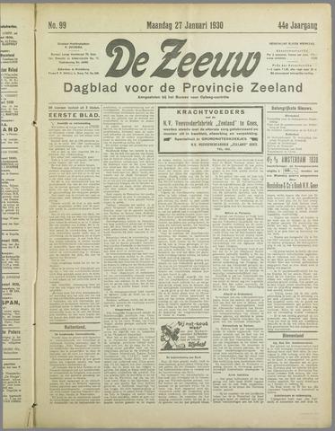 De Zeeuw. Christelijk-historisch nieuwsblad voor Zeeland 1930-01-27