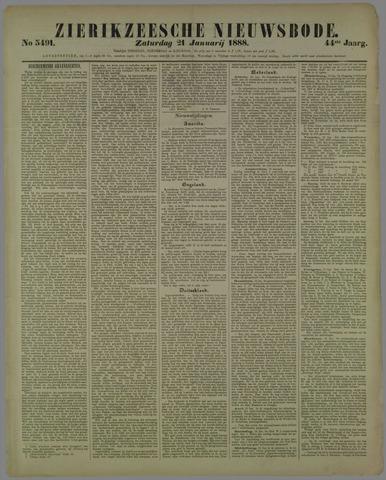 Zierikzeesche Nieuwsbode 1888-01-21