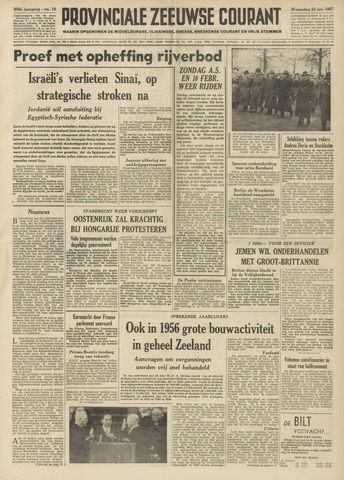 Provinciale Zeeuwse Courant 1957-01-23
