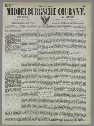 Middelburgsche Courant 1891-02-26