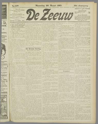 De Zeeuw. Christelijk-historisch nieuwsblad voor Zeeland 1917-03-26