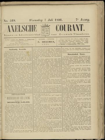 Axelsche Courant 1891-07-01
