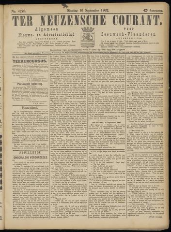 Ter Neuzensche Courant. Algemeen Nieuws- en Advertentieblad voor Zeeuwsch-Vlaanderen / Neuzensche Courant ... (idem) / (Algemeen) nieuws en advertentieblad voor Zeeuwsch-Vlaanderen 1902-09-16