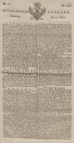 Middelburgsche Courant 1771-10-17